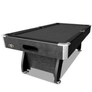 7ft Black Frame Black Felt Modern Design Pool Table