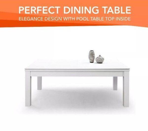 7ft White Frame Dining Pool Table