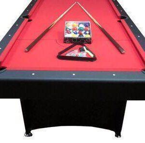 7ft MDF Red Felt Pool Table $999