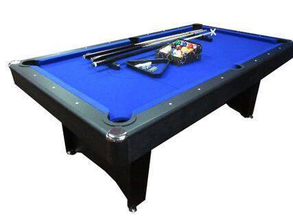 7ft MDF Pool Table Blue Felt