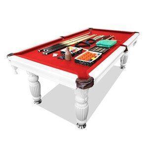8ft Slate Pool Table Luxury Red