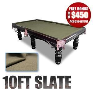 10Ft Slate Pool Table Luxury Coffee