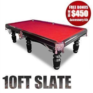 10FT Slate Pool Table
