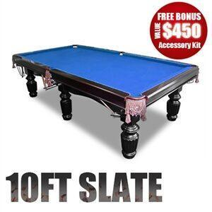 slate pool table with Luxury Blue felt