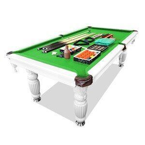 8ft Slate Pool Table Luxury Green