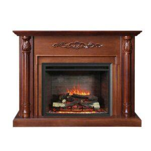 NEW BROWN 2000W ELECTRIC FIREPLACE