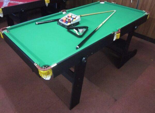 6ft Foldable Pool Table Green Felt