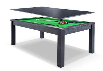 7ft Black Frame Dining Pool Table