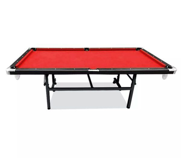 7ft Foldable MDF Pool Snooker Table Red Felt