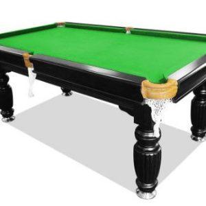 Slate Dark Frame Green Felt Pool Table