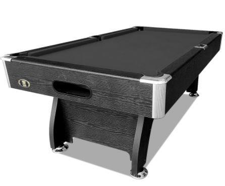 Black Felt Black Frame Pool Table