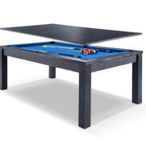 Black Frame Green Felt Dining Pool Table