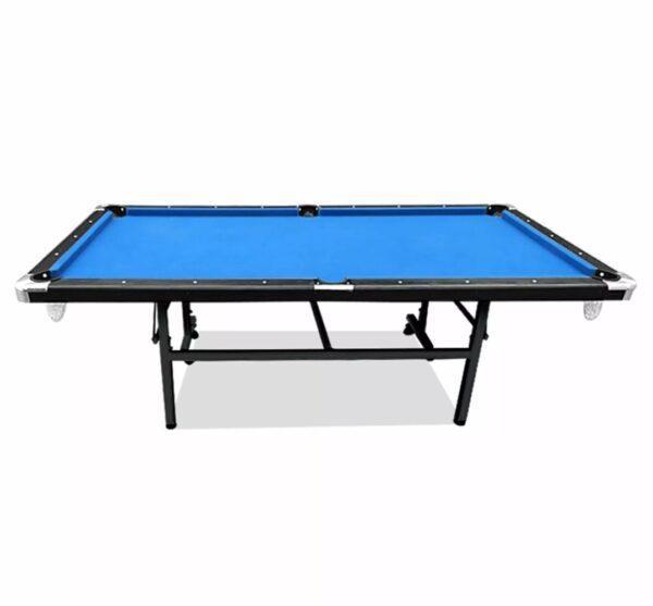 Foldable Pool Table Blue Felt
