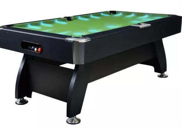 Green LED Pool Table