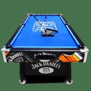 JD Logo Blue Felt Pool Table