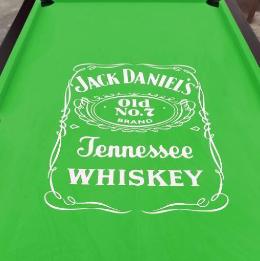 JD Logo Green Felt Pool Table