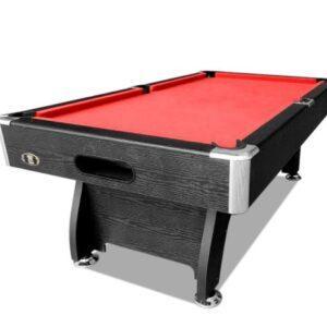 Modern Design Red Felt Pool Table