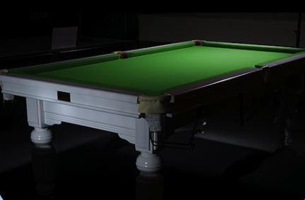 Slate Pool Table White Frame Green Felt