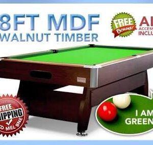 Walnut Green Pool Table