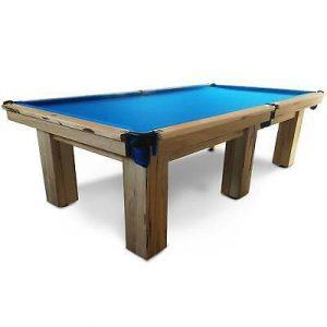 Slate Pool Table With Blue Felt